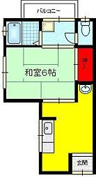 白芳荘[20号館号室]の間取り