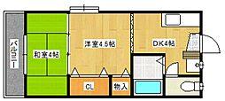 コーポFuji[102号室号室]の間取り