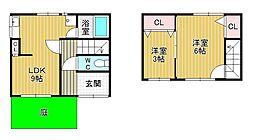 [一戸建] 愛知県あま市木田道下 の賃貸【/】の間取り