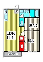 蕨ハイツ[2階]の間取り
