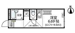 イル・ソーレ 桜ヶ丘[102号室]の間取り