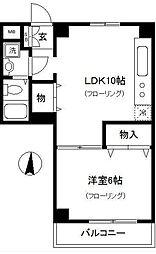 ラメール横浜[2階]の間取り