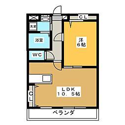 ベリーコート[2階]の間取り