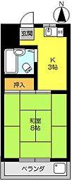 アムール鍋島[402号室]の間取り