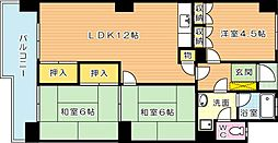 第22プリンスマンション(分譲賃貸)[9階]の間取り