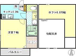 K−STAGE[101号室]の間取り