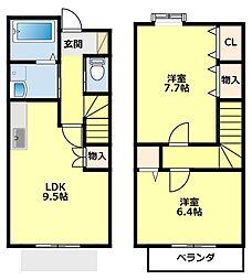[タウンハウス] 愛知県豊田市宮上町5丁目 の賃貸【/】の間取り