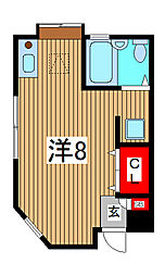 橋本様貸室[1階]の間取り