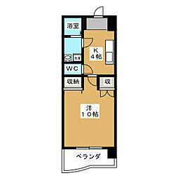 アークハイツ鹿田[3階]の間取り