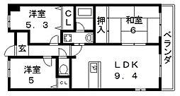 プリマベーラ・ブリッサ[305号室号室]の間取り