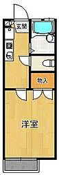 レオパレス白糸[1階]の間取り