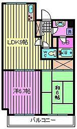 KSハイツ南浦和[7階]の間取り