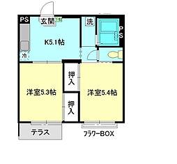 エステート新松戸[2階]の間取り