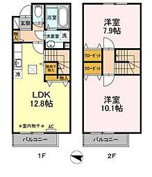[テラスハウス] 東京都福生市福生 の賃貸【/】の間取り