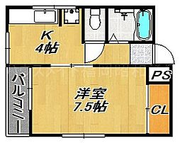 アート平尾山荘[3階]の間取り