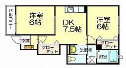 カレントDS和田[1階]の間取り