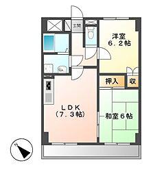 ヒルズ覚王山[3階]の間取り