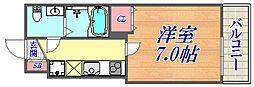 セレニテ神戸西クレア 5階1Kの間取り