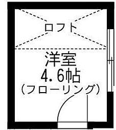 神奈川県横浜市西区浅間町4丁目の賃貸アパートの間取り