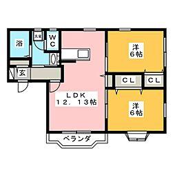 プログレール落合弐番館[2階]の間取り