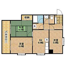 神奈川県川崎市高津区下野毛2丁目の賃貸マンションの間取り