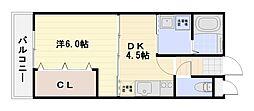 ソレイユコート[1階]の間取り