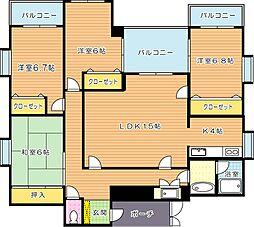 萩原KKGビル[6階]の間取り