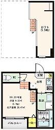 仮称)京都市山科区大宅SKHコーポ A棟[101号室]の間取り
