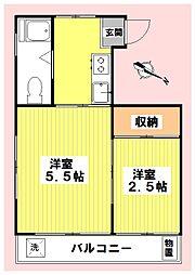 伊藤マンション[302号室]の間取り