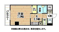 福岡県北九州市小倉北区香春口1丁目の賃貸マンションの間取り