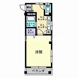 香川県高松市西宝町2丁目の賃貸マンションの間取り
