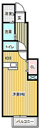メゾンアヴァンセ[1階]の間取り