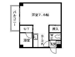 パラシオンN29[3階]の間取り