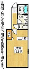 福岡県北九州市小倉北区上富野2丁目の賃貸マンションの間取り