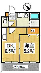 ア・ルーラ東合川[3階]の間取り