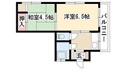 愛知県名古屋市瑞穂区本願寺町1丁目の賃貸マンションの間取り