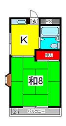 コーポ和樹[2階]の間取り