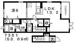 Maison ふじ(メゾンふじ)[202号室号室]の間取り
