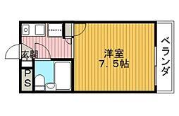 キャロル清風荘[3階]の間取り