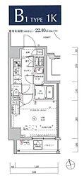 JR京浜東北・根岸線 川崎駅 徒歩9分の賃貸マンション 10階1Kの間取り
