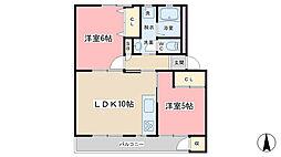 緑山荘A棟[107号室]の間取り