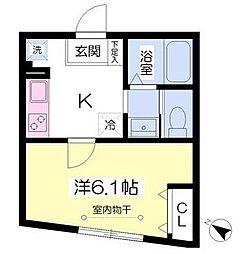 ワレア町田[1階]の間取り