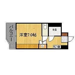 福岡県久留米市櫛原町の賃貸マンションの間取り