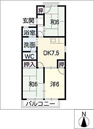 真鈴軒[2階]の間取り