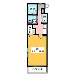 ファンロジュマン[3階]の間取り