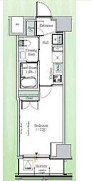 東京メトロ東西線 東陽町駅 徒歩23分の賃貸マンション 3階1Kの間取り