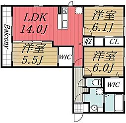 JR内房線 袖ヶ浦駅 バス7分 南蔵波下車 徒歩3分の賃貸アパート 2階2LDKの間取り