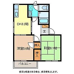ラプラス稲田N棟[1階]の間取り