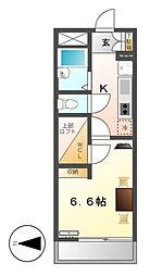 レオパレス名古屋駅[4階]の間取り