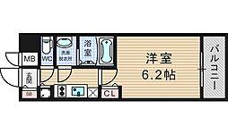 プレサンスOSAKA DOMECITYワンダー[6階]の間取り